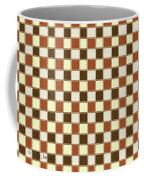 Fabric Design Mushroom Checkerboard Abstract #2 Coffee Mug
