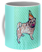 Fabric Pug Coffee Mug
