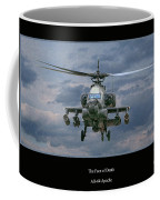 Face Of Death Ah-64 Apache Helicopter Coffee Mug by Randy Steele