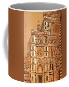 Faced Of Florence Cathedral  Coffee Mug