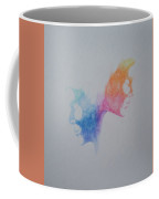Faces Butterfly Coffee Mug