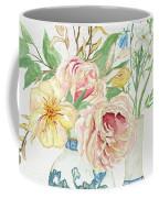 Faded Glory Chinoiserie - Floral Still Life 2 Blush Gold Cream Coffee Mug