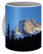 Fading Afternoon Sun Illuminates Mountain Peak  Coffee Mug