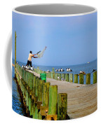 Fairhope Fisherman With Cast Net Coffee Mug