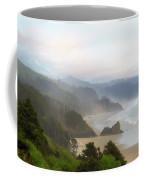 Falcon And Silver Point At Oregon Coast Coffee Mug