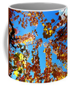 Fall Apricot Leaves Coffee Mug