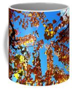 Fall Apricot Leaves Coffee Mug