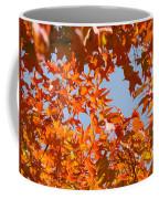 Fall Art Prints Orange Autumn Leaves Baslee Troutman Coffee Mug