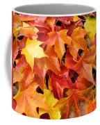 Fall Art Prints Red Orange Yellow Autumn Leaves Baslee Troutman Coffee Mug