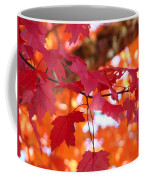 Fall Art Red Autumn Leaves Orange Fall Trees Baslee Troutman Coffee Mug