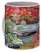 Fall Bridge In Manito Park Coffee Mug by Carol Groenen