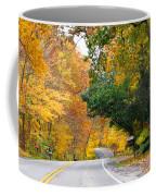 Fall Color Along Road  5643 Coffee Mug