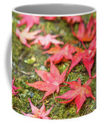 Fall Color Maple Leaves At The Forest In Nikko, Tochigi, Japan Coffee Mug