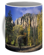 Fall Colors And Red Rocks Near Cave Coffee Mug by Rich Reid
