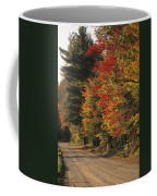 Fall Colors Line A New England Road Coffee Mug by Heather Perry