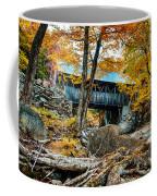 Fall Colors Over The Flume Gorge Covered Bridge Coffee Mug