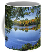 Fall Foliage At Turners Pond In Milton Massachusetts Coffee Mug