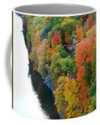 Fall Foliage In Hudson River 1 Coffee Mug