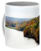 Fall Foliage In Hudson River 13 Coffee Mug