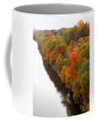 Fall Foliage In Hudson River 6 Coffee Mug