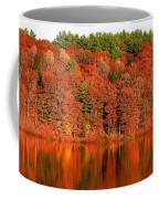Fall Foliage Reflection Kennebec River Hallowell Coffee Mug