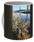 Fall Frost On Grasses Along Nippersink Creek Coffee Mug