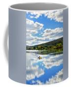 Fall Kayaking Reflection Landscape Coffee Mug