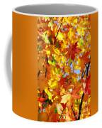 Fall Leaves Background Coffee Mug