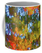 Fall Leaves On River 12 Coffee Mug
