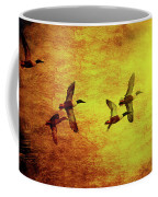 Fall Migration . Northern Shovelers . Texture . 40d5393 Coffee Mug