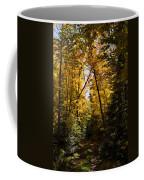 Fall Path In Golden Yellow Coffee Mug