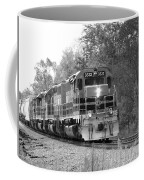 Fall Train In Black And White Coffee Mug by Rick Morgan