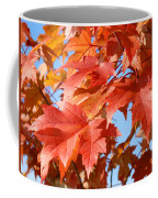 Fall Tree Leaves Art Prints Blue Sky Autumn Baslee Troutman Coffee Mug
