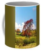 Fall Trees In Country Field Coffee Mug