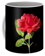 Fallen Red Rose Cutout Coffee Mug