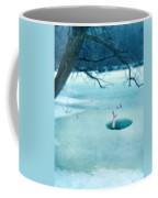Fallen Through The Ice Coffee Mug by Jill Battaglia