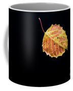 Falling Birch Leaf Coffee Mug
