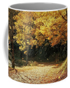 Bass Lake Falling Leaves Coffee Mug