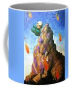 Falling Off The Mountain Coffee Mug by Pauline Lim
