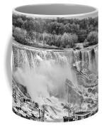 Falls Black And White Coffee Mug