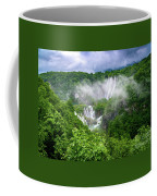 Falls Through The Fog - Plitvice Lakes National Park Croatia Coffee Mug