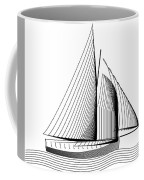 Falmouth Oyster Boat Coffee Mug