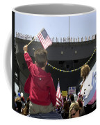 Family And Friends Wait To Welcome Home Coffee Mug by Stocktrek Images