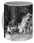 Family Camping, C.1970s Coffee Mug