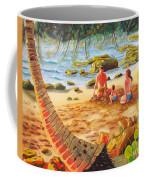 Family Day At Jobos Beach Coffee Mug by Milagros Palmieri