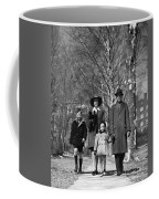 Family Out Walking On A Wintry Day Coffee Mug