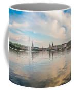 Famous Binnenalster In Hamburg Downtown At Sunset Coffee Mug