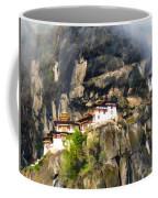 Famous Tigers Nest Monastery Of Bhutan 3 Coffee Mug