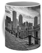 Fan Pier Boston Harbor Bw Coffee Mug