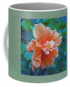 Fancy Peach Hibiscus Coffee Mug